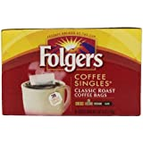 Folgers Coffee Singles Classic Roast Coffee Bags, 6 Ounce, 38 Count