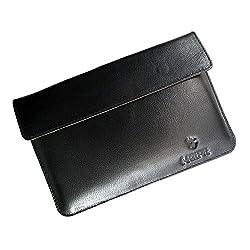 i-KitPit : Genuine Leather Pouch Case For iBall Slide 6309i (BLACK)