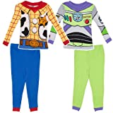 Disney Boys 2-7 Toy Story Buzz And Woody Four-Piece Pajama Set
