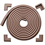 "Roving Cove® 15ft Edge + 4 Corners EXTRA PURE, EXTRA DENSE, EXTRA LONG ""Safe Edge™ and Corner Cushion"" - VALUE PACK - COFFEE; Premium Childproofing Edge Corner Guard - Child Safety Home Safety Furniture and Table Edge Corner Protectors"