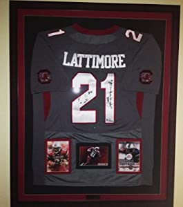 Autographed Marcus Lattimore limited edition South Carolina Gamecocks jersey by Man+Cave+Pro+Memorabilia