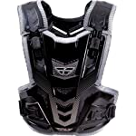 Fly Racing Pivotal Adult Roost Guard Off-Road/Dirt Bike Motorcycle Body Armor - Black / One Size