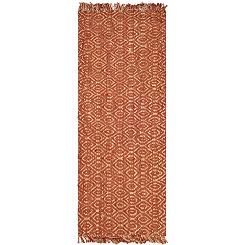 Safavieh Natural Fiber Collection NF445A Hand Woven Rust Jute Runner, 2 feet 6 inches by 6 feet (2'6