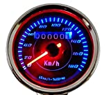 LED バックライト で 夜でも明るく 見やすい 12V 機械式 凡用 バイク 用 スピードメーター