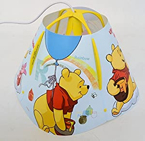 Disney Winnie Children's Pendant Ceiling Light Fitting with Lamp Shade by Disney