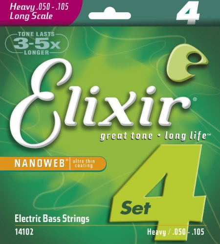 Elixir 14102 Nanoweb Electric 4-String Bass Heavy, Long Scale
