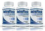 NUTRAFLUSH PRO (3 Bottles) - Complete Colon Cleanser, Detox Cleanse and Diet Formula