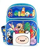 Full Size Blue Adventure Time Cast with 3D Finn Kids Backpack