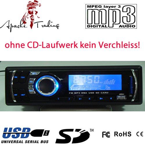 TR-16 MP3-Autoradio (PLL-Tuner, 4x 20 Watt, SD-Speicher,