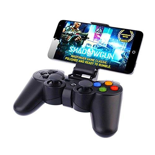 Geekercity® Portable Wireless Bluetooth Game Gaming Controller Joystick Gamepad for Android IOS Apple iPhone 6 6s 6 plus 6s plus Samsung Galaxy S6 S7 S6 Edge S5 S4 S3 Note 2 3 4 5 (Samsung S3 Mini Refurbished compare prices)