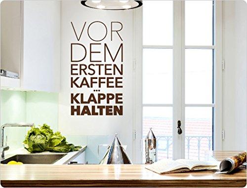i love wandtattoo 11863 wandtattoo kaffee spruch vor dem ersten kaffee bitte klappe halten. Black Bedroom Furniture Sets. Home Design Ideas
