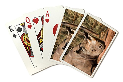 Black Rhinoceros (Playing Card Deck - 52 Card Poker Size with Jokers)