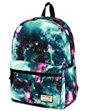 [HotStyle Fashion Printed] TrendyMax Galaxy Pattern School Backpack Cute for Girls, Green
