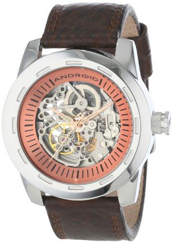 Android Men's AD655ABN Polished Skeleton Automatic Brown Watch