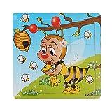Ularma Lindo Aprendizaje y la educaci�n de los ni�os madera Jigsaw Puzzles juguetes (Abeja)
