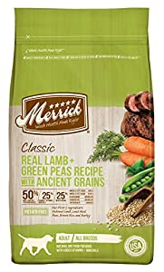 Merrick 1 Count Classic Real Lamb + Green Peas Recipe with Ancient Grains, 25 lb
