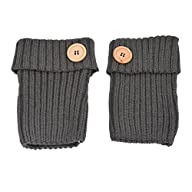 HUE21 Women's Button Accent Knit Boot Cuffs