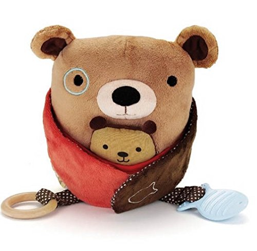 Hug And Hide Activity Toy Bear Baby Rattle Toys Kids Gifts For Newborn front-1056699