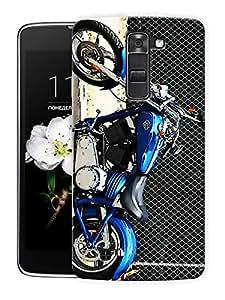 "Chopper Bike Printed Designer Mobile Back Cover For ""LG K7"" By Humor Gang (3D, Matte Finish, Premium Quality, Protective Snap On Slim Hard Phone Case, Multi Color)"