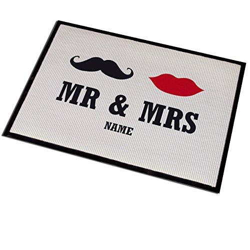 Cera & Toys Schmutzfangmatte MR & MRS mit Familiennamen