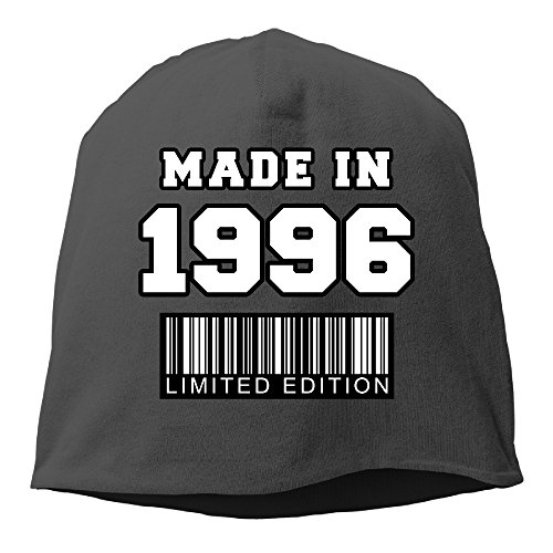 20th Birthday Gifts Made In 1996 Hat Beanies Cap Black