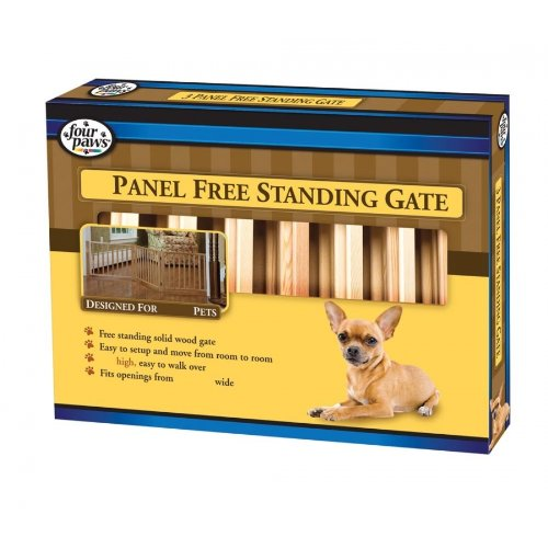 Four Paws 3-Panel Free-Standing Walk-Over 64-Inch-by-17-Inch