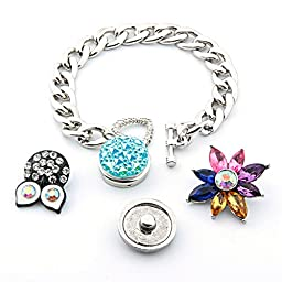 Simple Ever Snap Bracelet Fit 18mm DIY Snap Noosa Ginger Charms Pack of 2