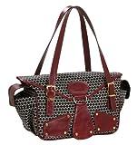 Mia Bossi Maria Diaper Bag, Black Cherry