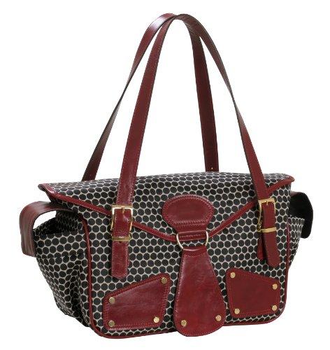 Mia Bossi Maria Diaper Bag, Black Cherry front-301043