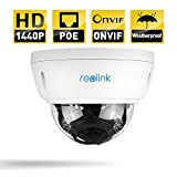Reolink RLC-422-P 4MP 1440P POE IP Security Camera System with 4 AutoFocus Dome and Night Vision