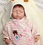 NPKDOLL Reborn Doll Olivia Lifelike Lovely Baby Doll(eyes:closed) 20 Inch