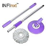 Infinxt Spin Mop Replacement Handle Purple
