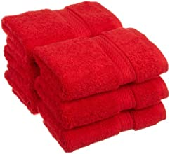 Egyptian Cotton 900 Grams Towel Collection - 6 Piece Face Towel Set - Red