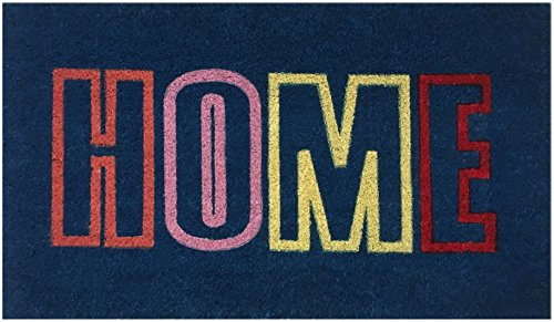 """Home"" Doormat By Castle Mats, Size 17 X 29 Inches, Non-Slip, Durable, Made Using Odor-Free Natural Fibers"