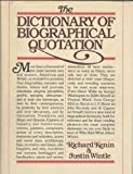 img - for The Dictionary of Biographical Quotation book / textbook / text book
