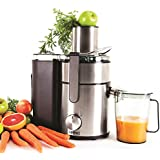 Duronic JE10 Powerful 1000W Large Feeding Tubed Whole Fruit Centrifugal Power Juicer with Jug - 2 Years Free Warranty ...