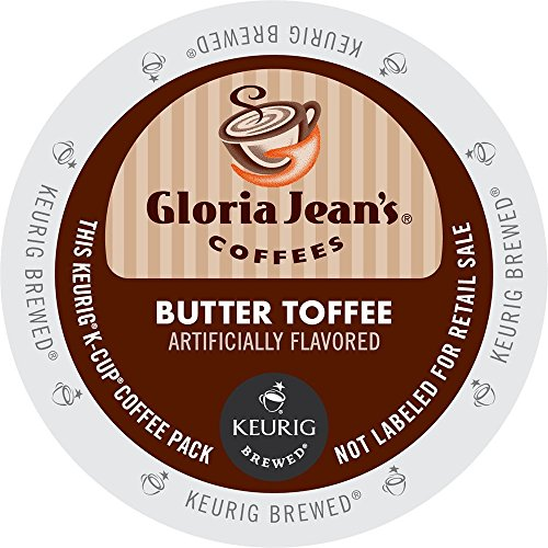 Keurig, Gloria Jean's, Butter Toffee, K-Cup Counts, 50 Count (K Cup Coffee Toffee compare prices)