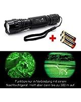 lampe de poche infrarouge LED - jusqu'à 800 lumens - Ultrafire WF-501B - incl. Batterie 2x CR123A