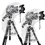 (2 Pack) Altura Photo Rain Cover for DSLR Cameras with Lenses Up to 18