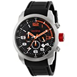 red line Men's RL-60001 Overdrive Chronograph Black Textured Dial Black Silicone Watch