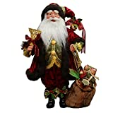 """16"""" Inch Standing Whimsical Santa Claus Christmas Figurine Figure Decoration 41604"""