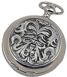 A E Williams 4817 Greenman mens quartz pocket watch with chain