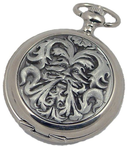 A E Williams 4817 Greenman mens quartz pocket watch with chain