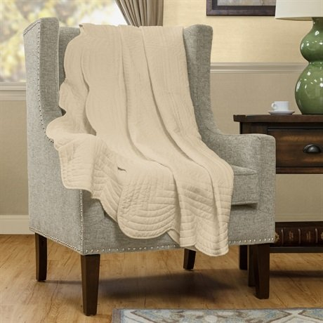 Madison Park Tuscany Quilted Throw, 60 by 72