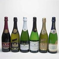 セレクション世界のスパークリングワイン飲み比べ6本セット 神の雫 に登場したワイン入り(スペイン フランス2本 イタリア2本)泡ワイン6本セット