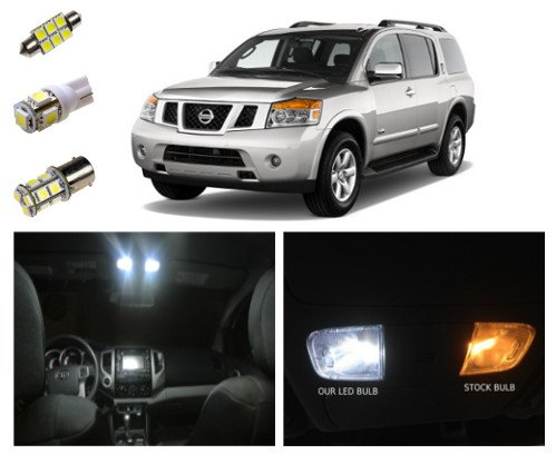 Nissan Armada Led Package Interior + Tag + Reverse Lights (18 Pieces)