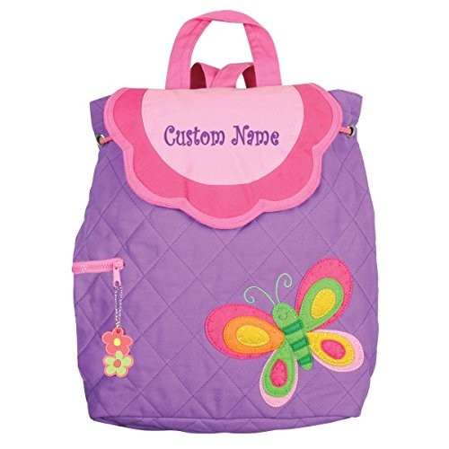 Review Personalized Stephen Joseph Purple Butterfly Embroidered Backpack, CUSTOM NAME