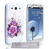 """Samsung Galaxy S3 Tasche Silikon Blumen H�lle Lilavon """"Yousave Accessories�"""""""