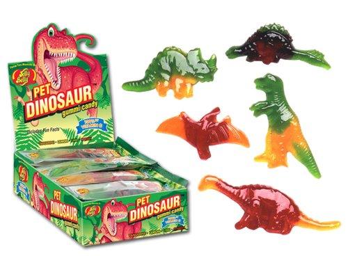 Jelly Belly Gummi Pet Dinosaur Candy 1.75 Ounce 100% Vitamin C Tangerine, Lemon, Lime & Cherry (3 Pack)