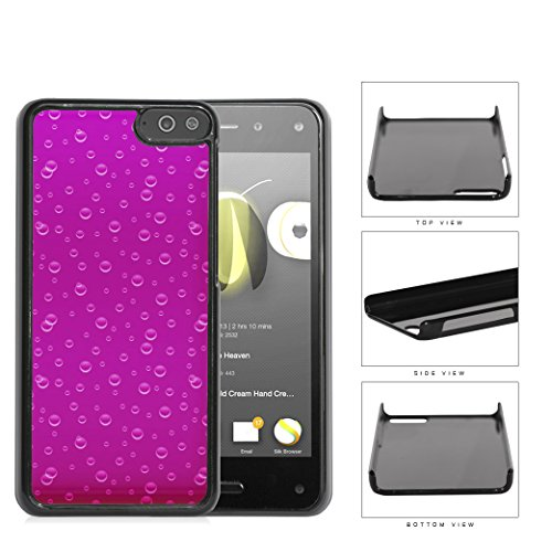 Sparklilng Pink Drink Bubbles Hard Plastic Snap On Cell Phone Case Amazon Fire